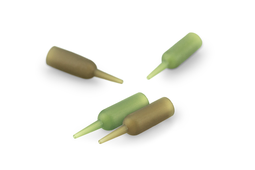 Naked C-Clip Buffer Beads Green & Brown